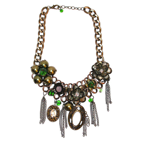 Limited Edition Green Floral Necklace