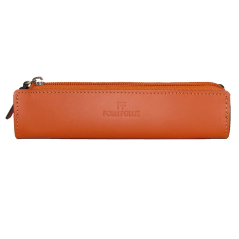 Folli Follie Orange Leather Pencil Case