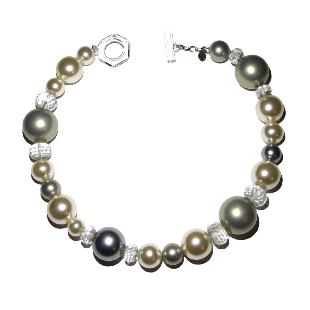 Furla Crystal Bead Multi Color Pearl Necklace