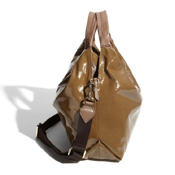 Furla 'Elisabeth' Shopper Patent Leather Side
