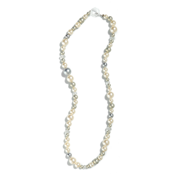 Furla Multicolor Pearl Long Necklace