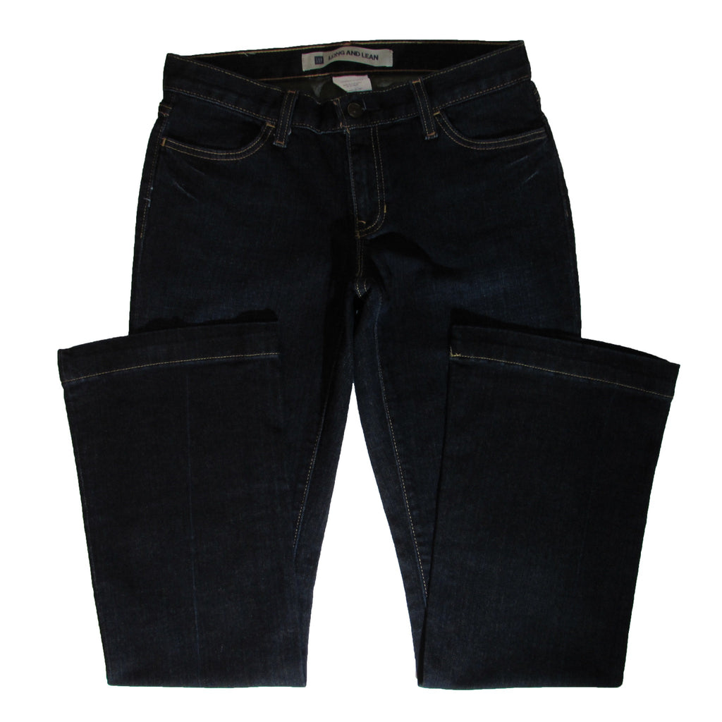 Gap Long and Lean Denim Front Folded