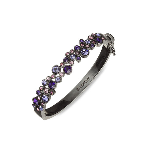Givenchy Purple Crystal Bangle Bracelet