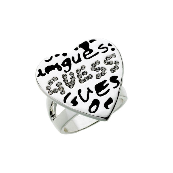 Guess Graffiti Heart Ring