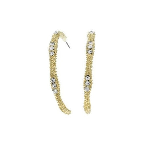 Guess Textured Semi Hoop Earrings