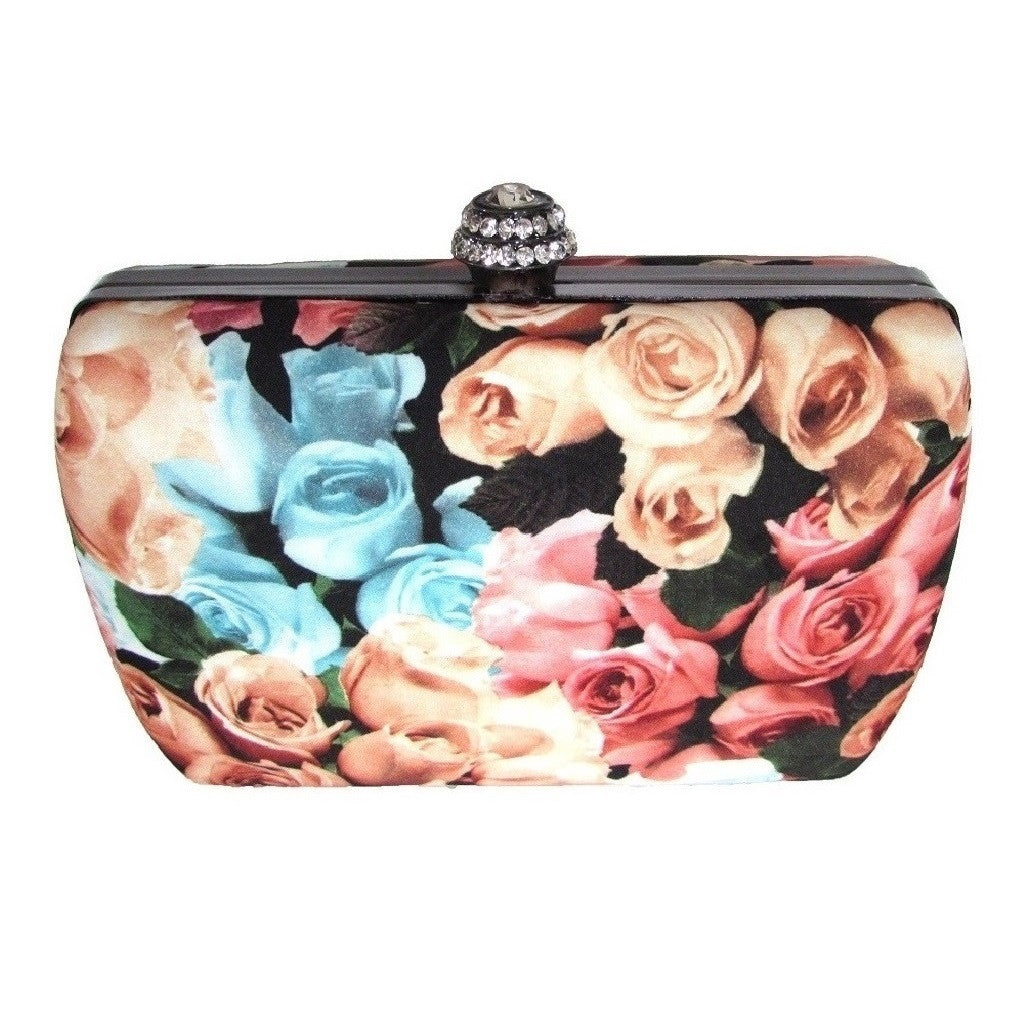 Harvé Benard Floral Box Clutch