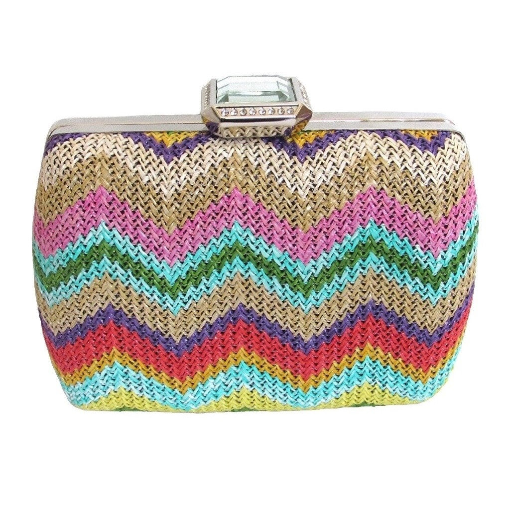 Harvé Benard Multi Color Box Clutch