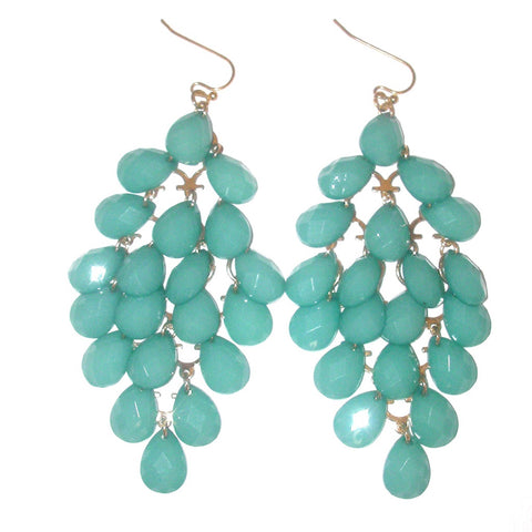 Haskell Cascade Mint Drop Earrings