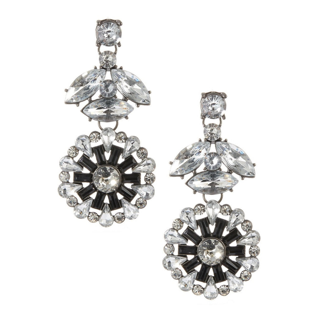 Haskell Floral Drop Rhinestone Earrings