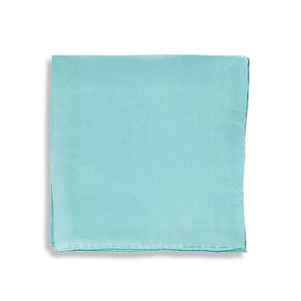 IMPUNTURA Silk Pocket Square - Aqua