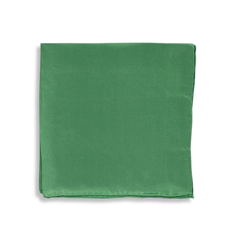 IMPUNTURA Silk Pocket Square - Dark Green