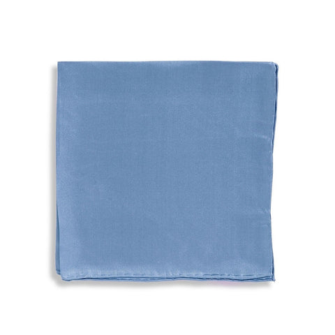 IMPUNTURA Silk Pocket Square - Mid Blue