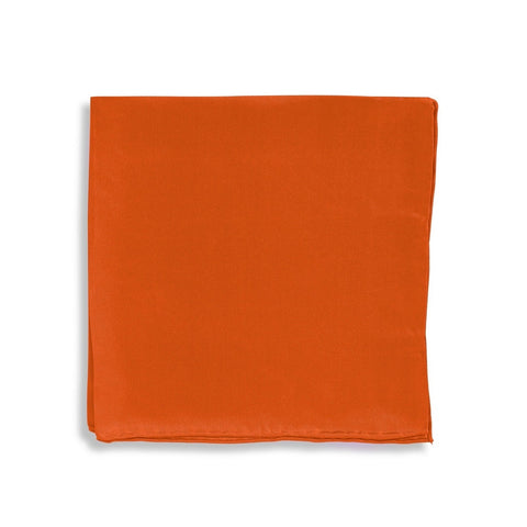 IMPUNTURA Silk Pocket Square - Orange