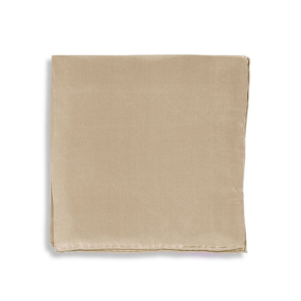 IMPUNTURA Silk Pocket Square - Taupe