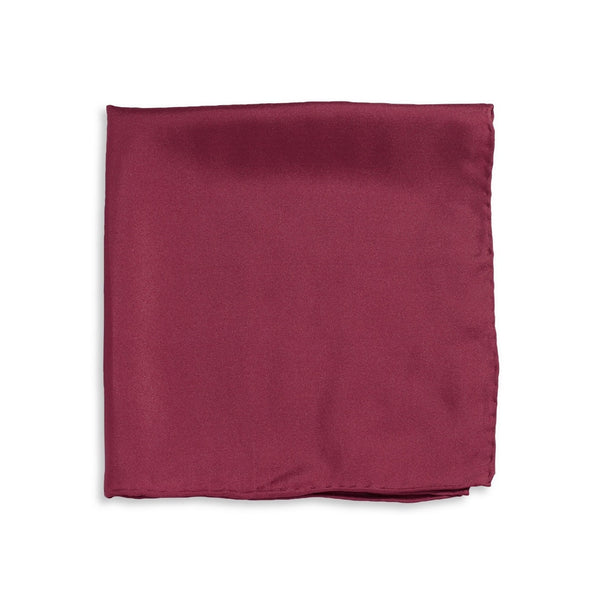 IMPUNTURA Silk Pocket Square - Wine