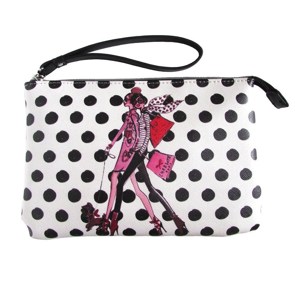 IZAK Polka Dot Paris Mood Wristlet