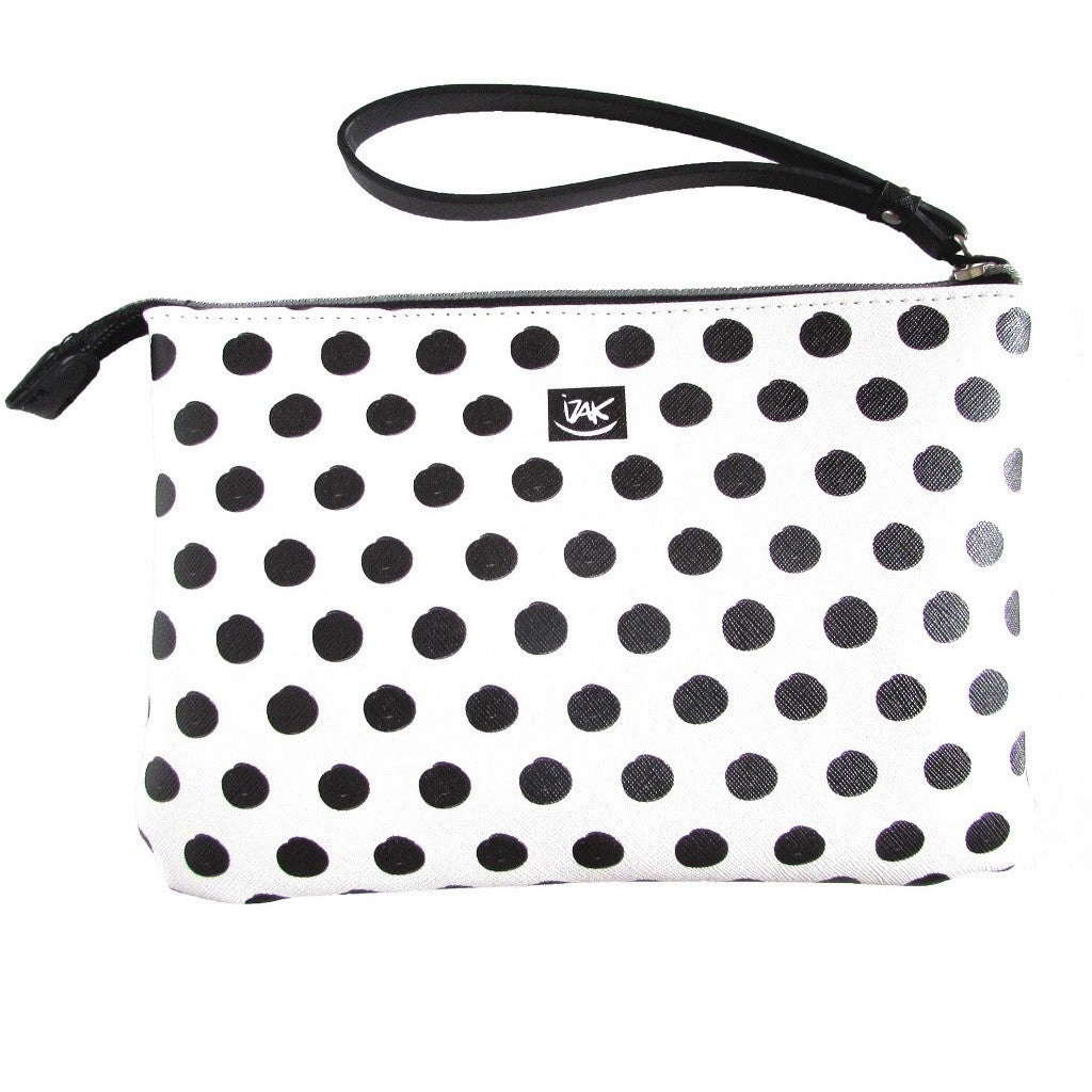 IZAK Polka Dot Paris Mood Wristlet Back View