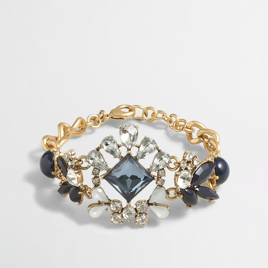 J.CREW Blue Factory Crystal Center Bracelet