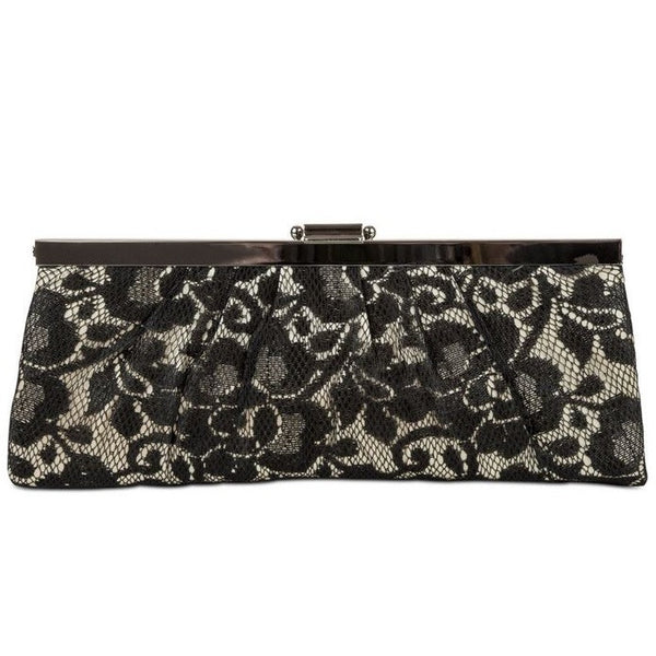 Jessica Mcclintock Lace Overlay Frame Clutch