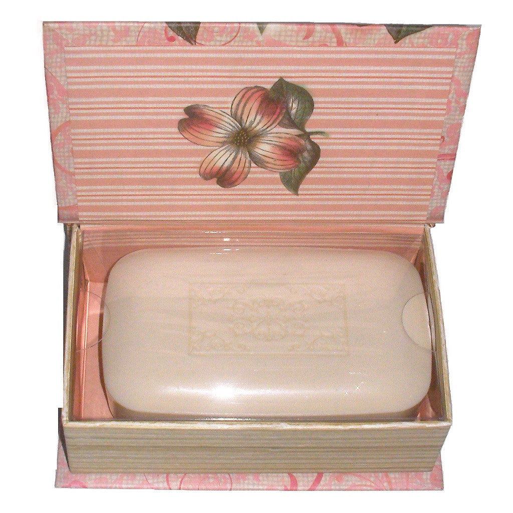 Scented Jasmine Soap Book Box Open to show soap Inside