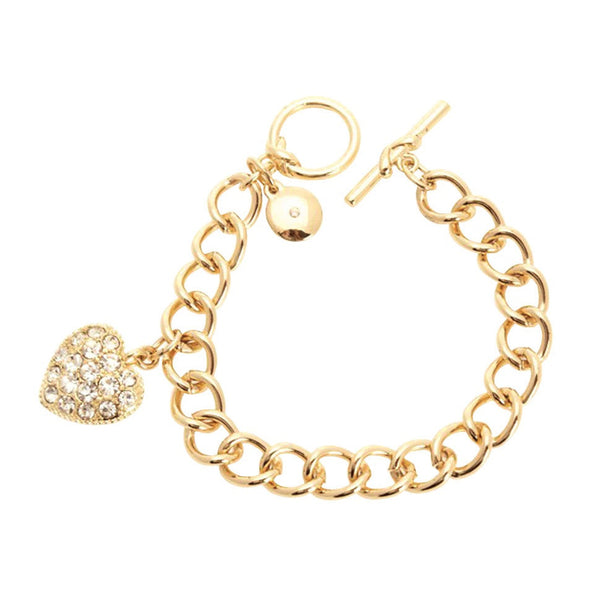 Jones New York Bracelet with Pave Heart Charm