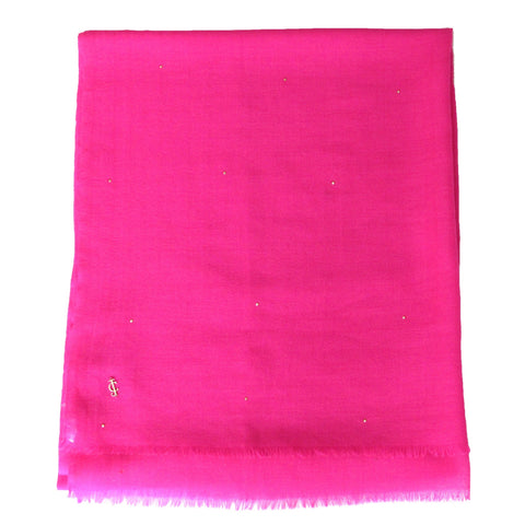 Juicy Couture Hot Pink Sequin Wrap with subtle gold sequin embellishment