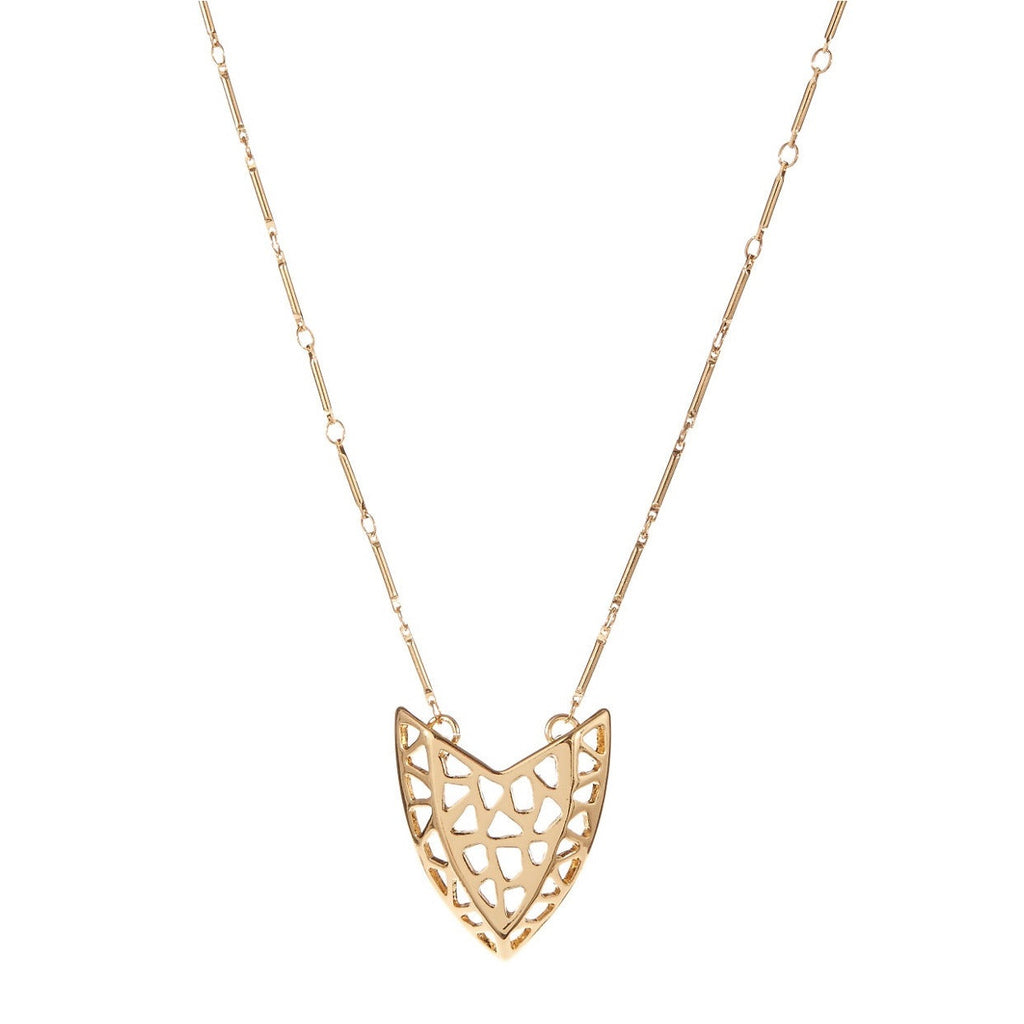 Kara Ross Gold Plated Artemis Cut Out Necklace