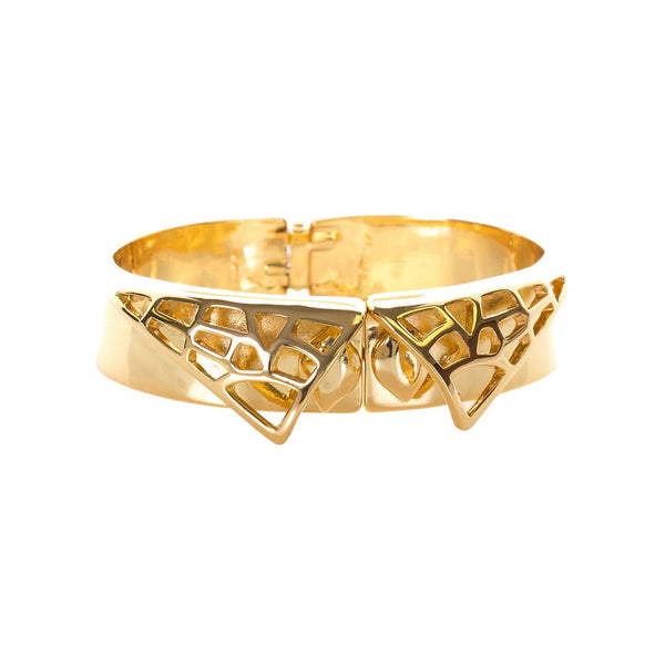Kara Ross Gold Plated Cut Out Cuff