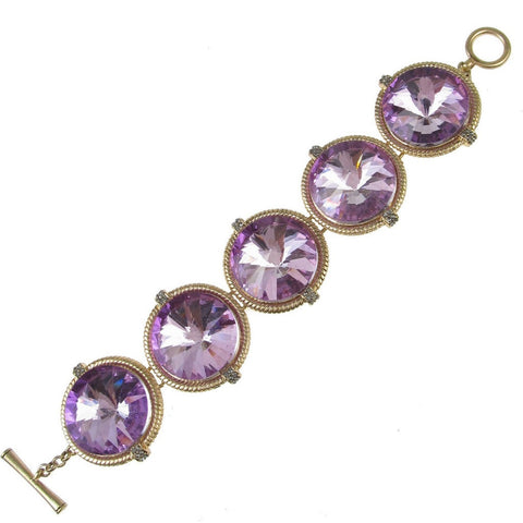 Kenneth Cole Purple Crystal Bracelet