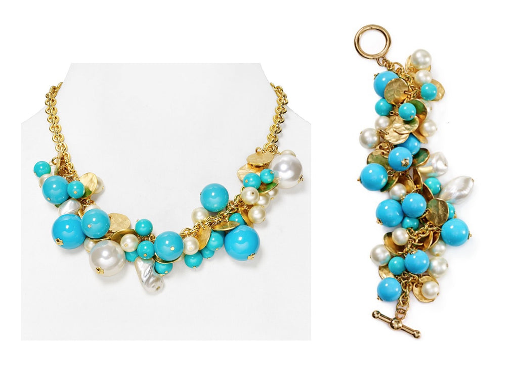 Kenneth Jay Lane Charm Necklace and Bracelet