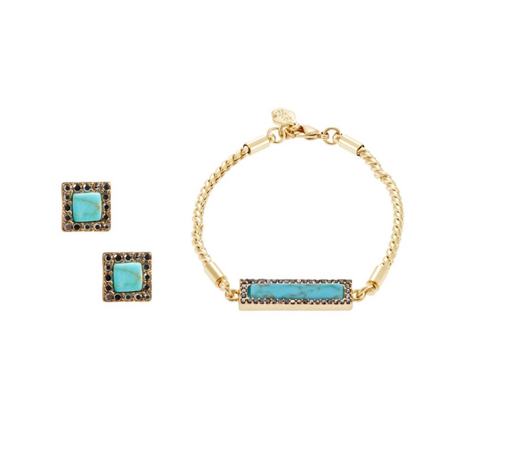 Kensie Blue Stone  Earring and Bracelet