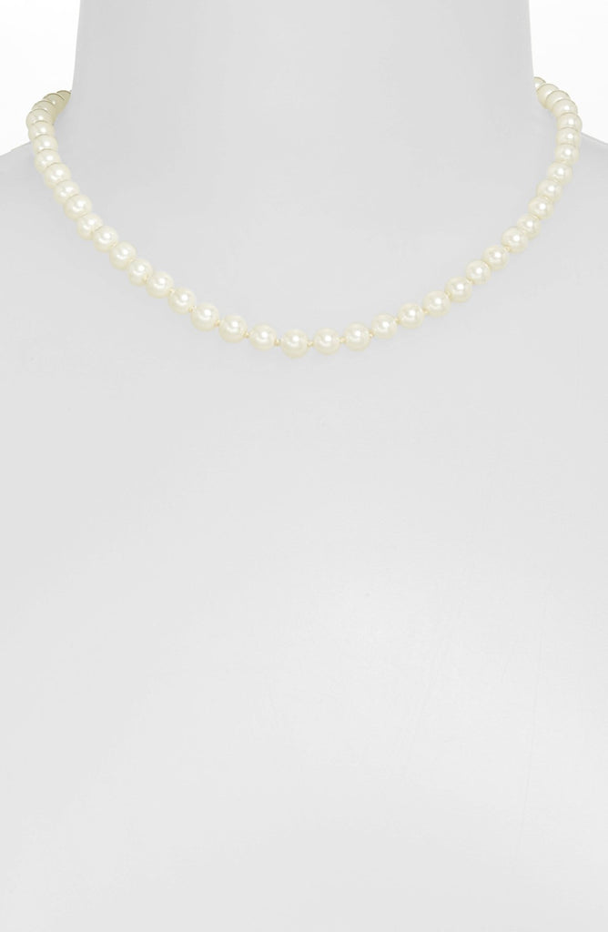 Lauren by Ralph Lauren Glass Pearl and Sterling Necklace Neck View