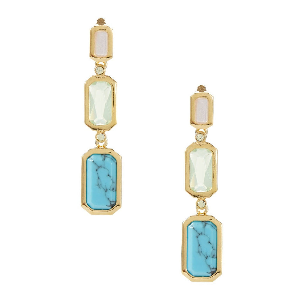 Lauren Ralph Lauren Triple Semi Precious Stone Earrings