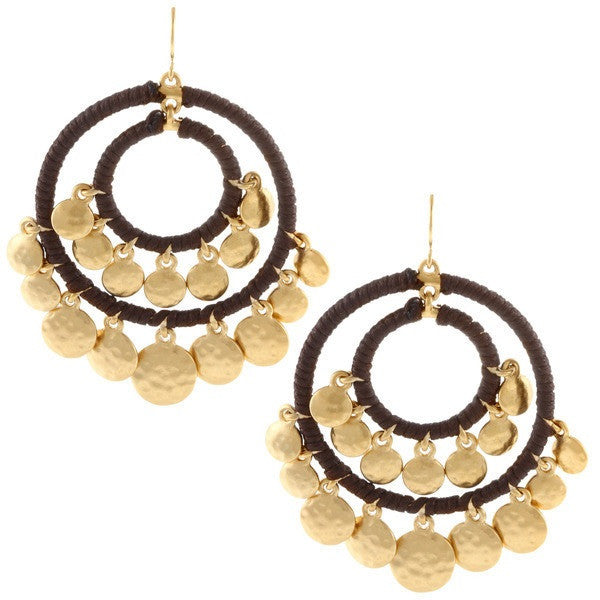 Lauren Ralph Lauren Gypsy Double Hammered Hoops
