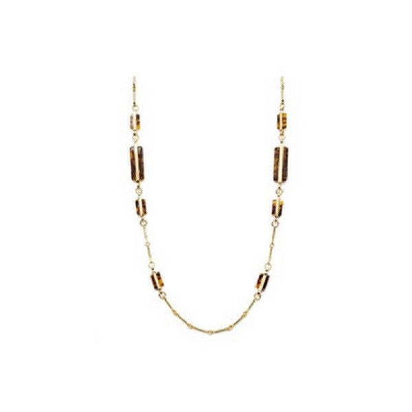 Lauren By Ralph Lauren Necklace, Gold Tone Tortoise Shell Necklace