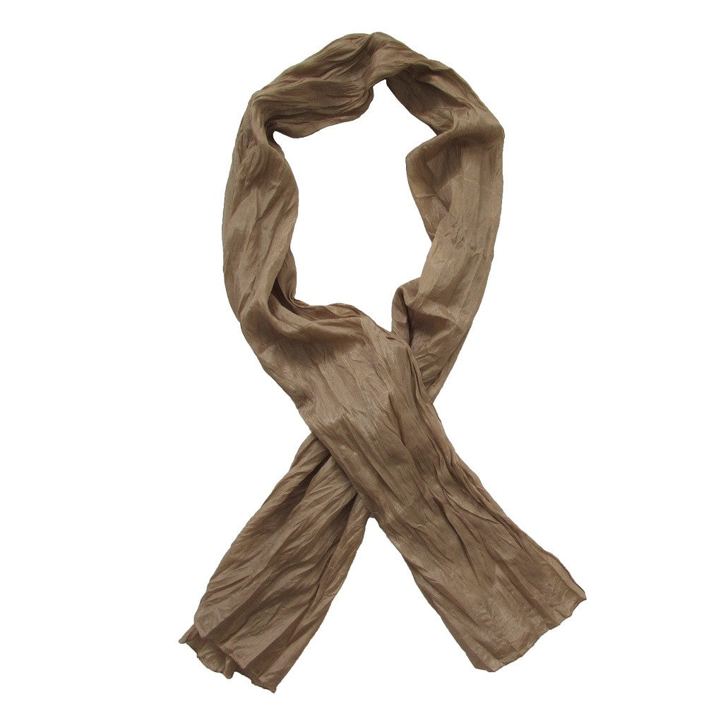 Light Gold Ruched Scarf