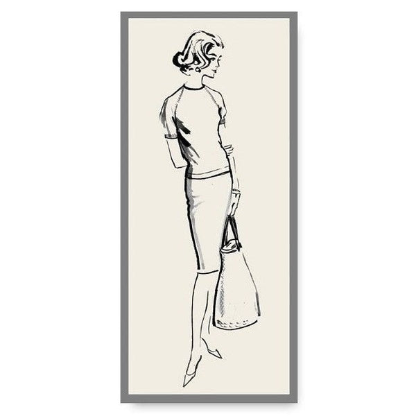 Limited Edition Vintage Fashion Illustration Note Card Frances