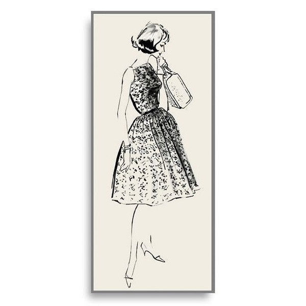 Limited Edition Vintage Fashion Illustration Note Card Susanna