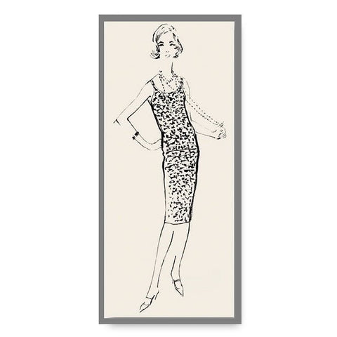 Limited Edition Vintage Fashion Illustration Note Card Teddi