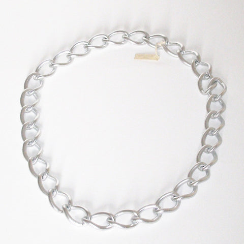 Massimo Dutti Chunky Silver Chain Necklace