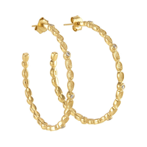 Melinda Maria Gold Plated Hoop Earings