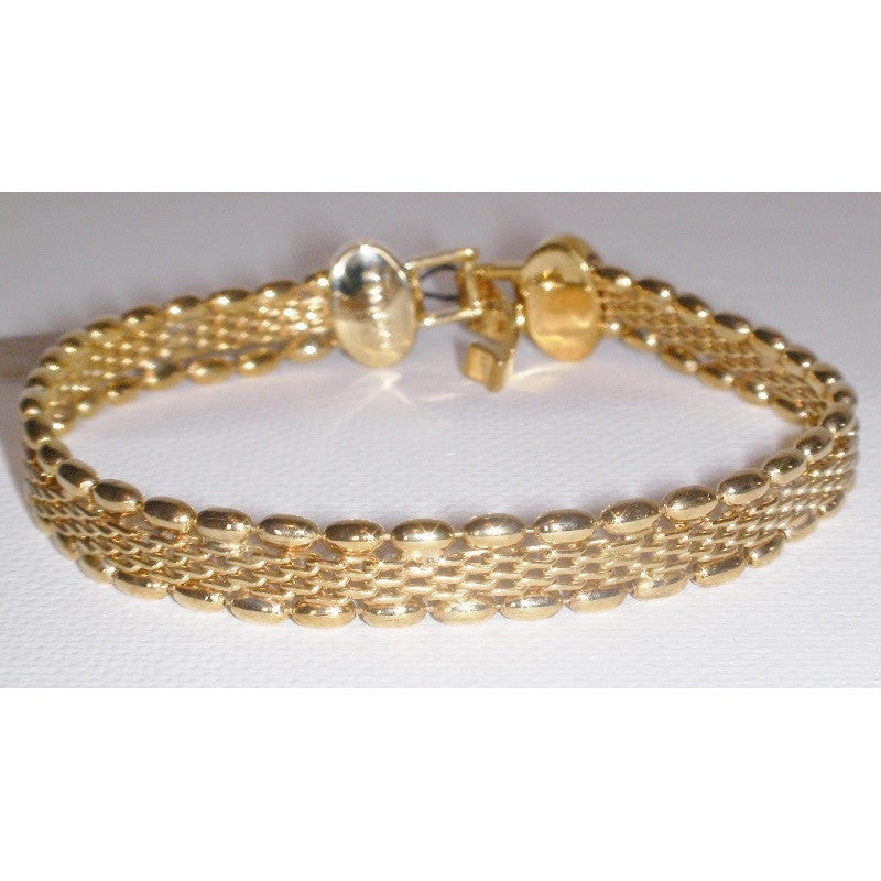 Monet Woven Bracelet in Gold Plate