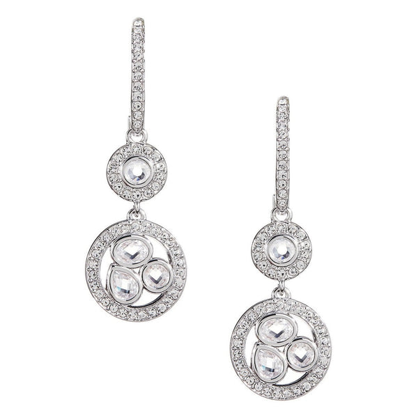 NADRI Cubic Zirconia Bezel Lever Back Earrings
