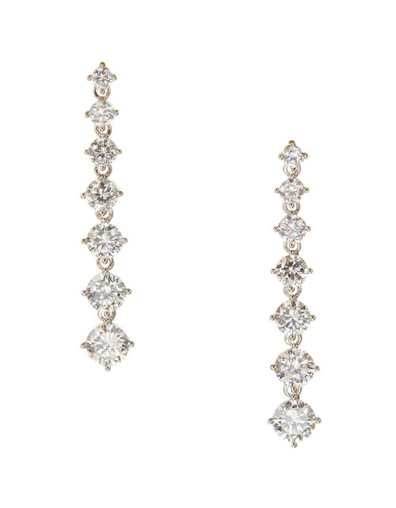 NADRI Graduated Cubic Zirconia Drop Earrings