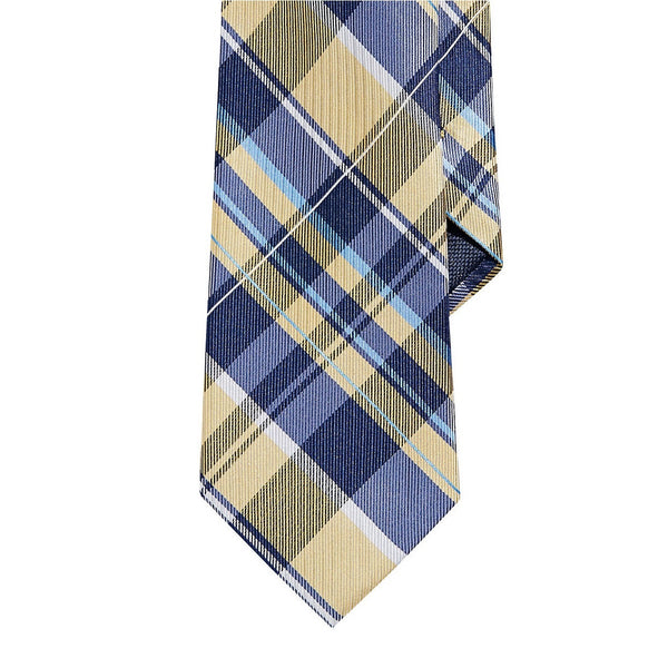 Nautica Plaid Silk Tie - Yellow