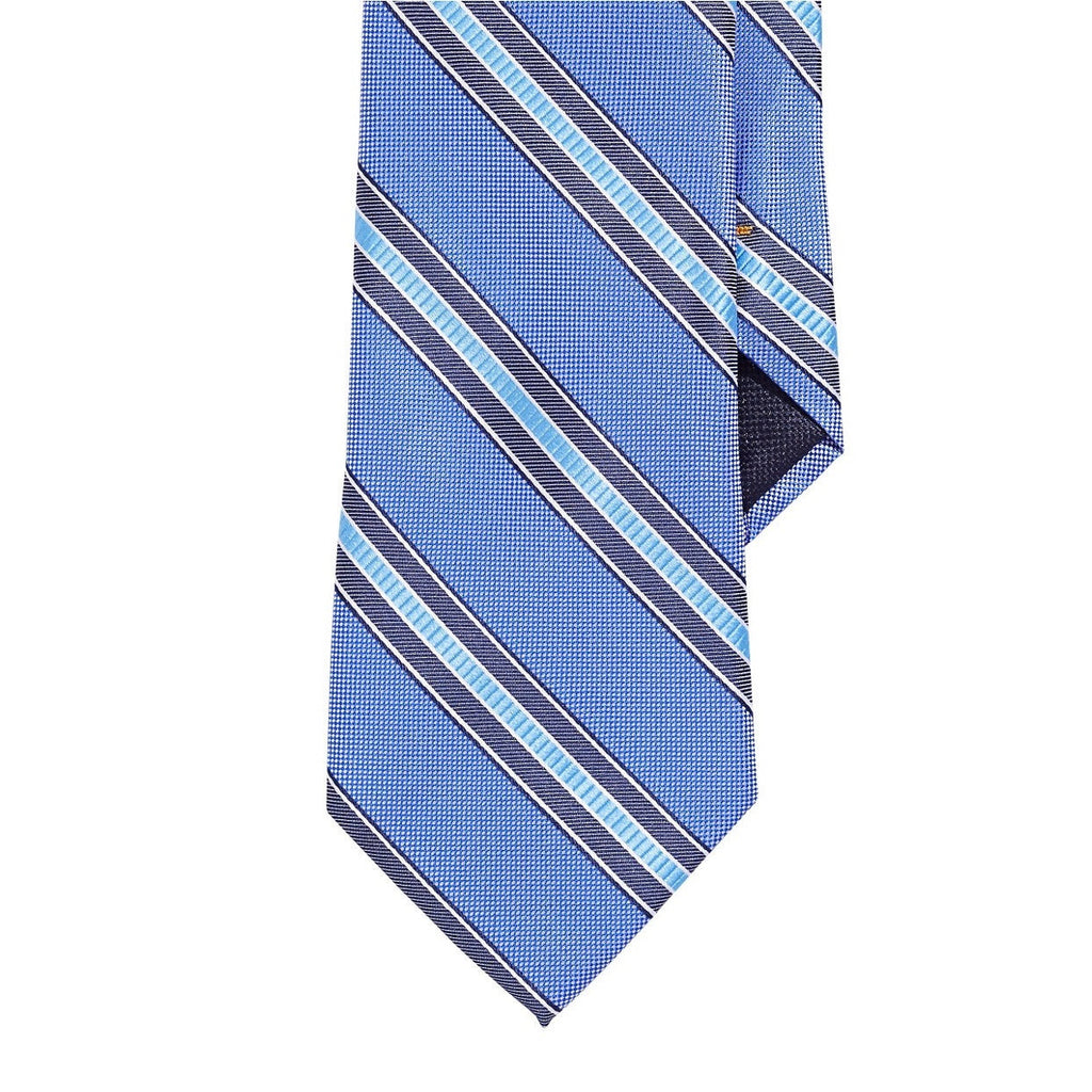 Nautica Wide Ribbon Silk Tie - Blue