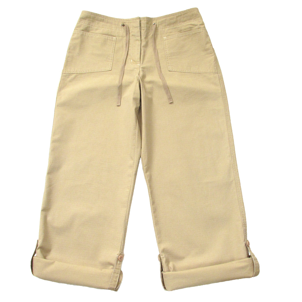 New York And Company Khaki Cargo Pants Rolled Up Look