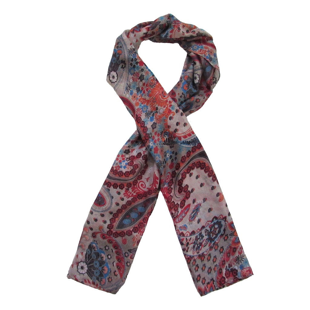 Paisley Floral Sheer Scarf