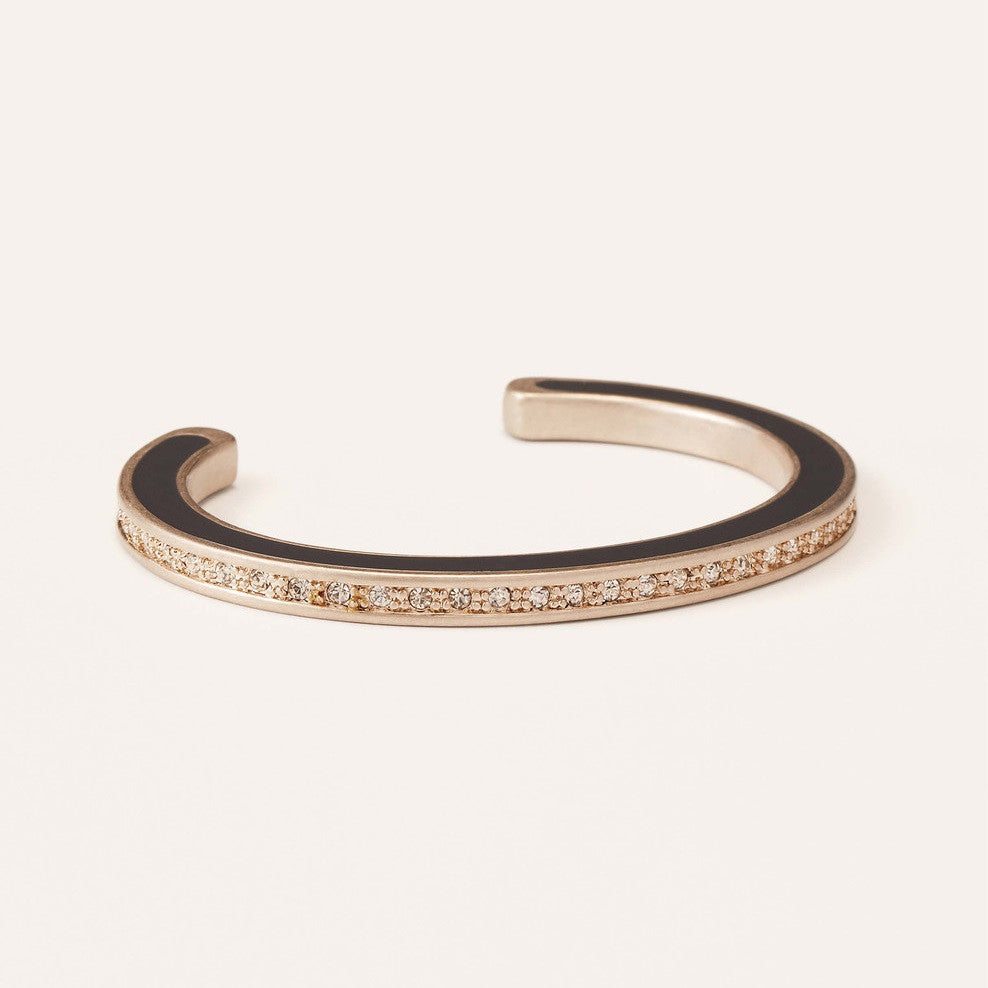 LOFT Enamel Pave Open Bangle-Grey