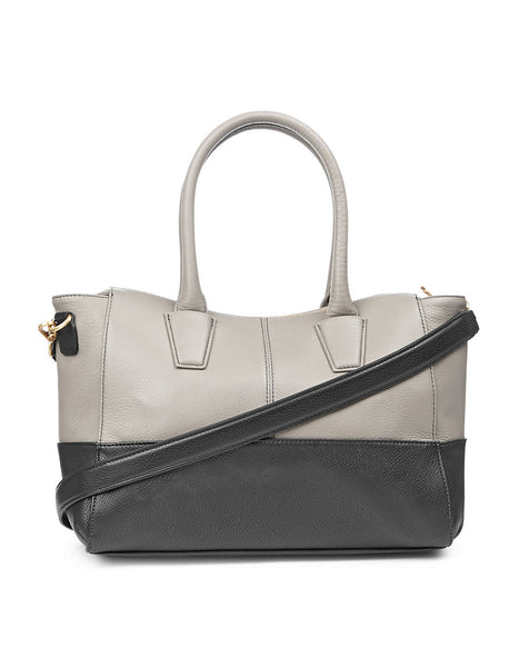 Perlina-Valentina-Leather-Colorblock-Tote-Front